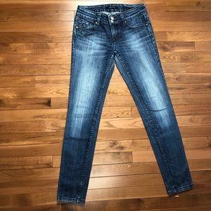 VIGOSS Skinny Jeans Premium Denim 3/4 27